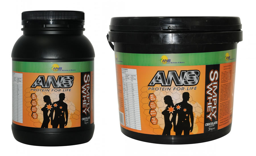ANS Simply Whey Vanilla or Chocolate